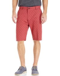 Dockers Red Alpha Printed Bermuda Shorts - Lyst