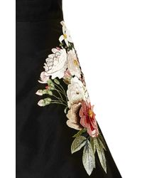 Sachin+babi 3d Florals On Silk Faille Sweetheart Neck Cocktail Dress with Embroidered Side - Lyst
