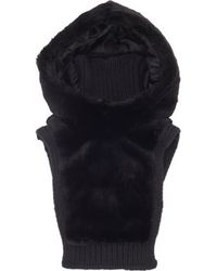 Balenciaga Fur Hooded Scarf - Lyst