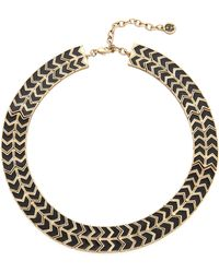 House Of Harlow Blackbird Collar Necklace Blackgold - Lyst