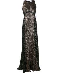 Badgley Mischka Color Blocked Sequin Gown - Lyst