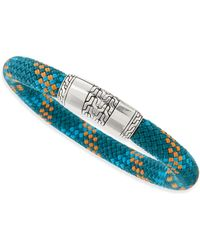 John Hardy Classic Chain Multicolor Cord Bracelet Teal - Lyst