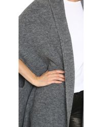 4519bed8da Lyst - DKNY Pure Open Front Cardigan - Heather Grey in Gray