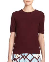 Marc By Marc Jacobs Compact Cotton Sweater purple - Lyst