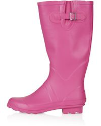 Topshop Jacobson Drizzle Wellies - Pink - Lyst