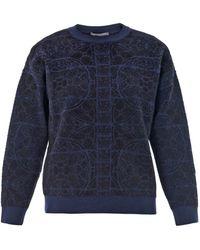 Alexander McQueen Stained-Glass Jacquard Sweatshirt - Lyst