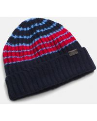 Coach Cashmere Variegated Stripe Rib Hat - Lyst