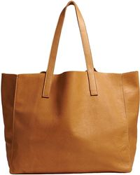 Velvet By Graham & Spencer Clover Leather Tote In Tan - Lyst