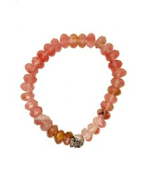Duchess Of Malfi - Peach Tourmaline Faceted Stone Bracelet - Lyst