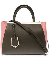 Fendi Petite 2jours Leather Tote - Lyst