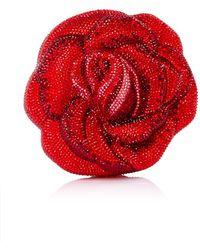 Judith Leiber American Beauty New Rose Clutch - Lyst