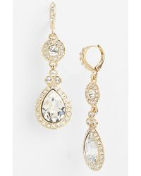 Givenchy Women'S Pave Double Drop Earrings - Gold/ Clear Crystal - Lyst