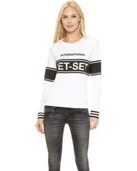 Zoe Karssen Jet Set Sweatshirt - White - Lyst
