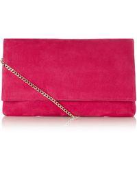Karen Millen The Brompton Clutch pink - Lyst