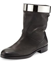 Pierre Hardy Metal Hoop Leather Boot - Lyst