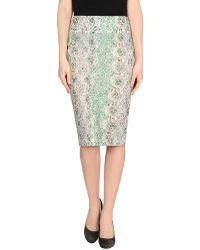 Ermanno Scervino 3/4 Length Skirt green - Lyst