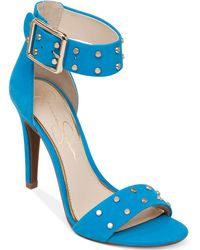Jessica Simpson Elonna Two-Piece Studded Sandals - Lyst