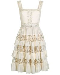 Elie Saab | Tiered Frill Lace Dress | Lyst