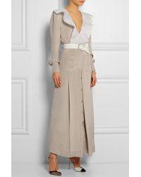 Alessandra Rich Belted Silk-Satin Gown - Lyst