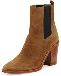Vc Signature Sarla Suede Stretch-Gore Ankle Boot - Lyst