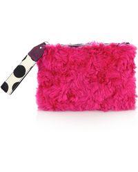 House of Holland Pink Fur Bag Of Tricks - Lyst