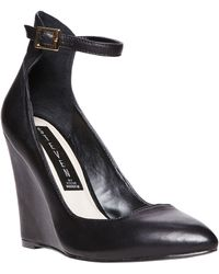 Steven by Steve Madden Wisty Leather Wedge Sandals - Lyst