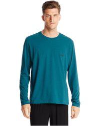 Hugo Boss Shirt Rn Stretch Cotton Long Sleeve Tshirt - Lyst