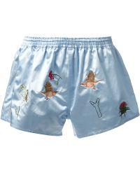 Bernhard Willhelm - Embroidered Shorts - Lyst