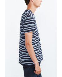 BDG - Vale Heather Stripe Standard-fit V-neck Tee - Lyst