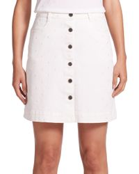 Stella McCartney   Embellished Button-front A-line Skirt   Lyst