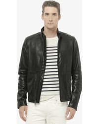 Vince Modern Leather Moto Jacket - Lyst