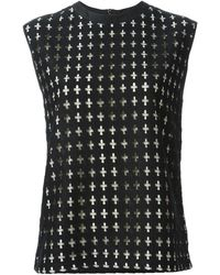 Costume National Cross Detail Tank - Lyst