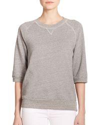 True Religion Joan Smalls X Heathered Sweatshirt gray - Lyst