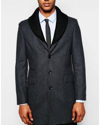 Féraud - Premium 80% Italian Melton Wool Coat With Detachable Knitted Collar - Lyst