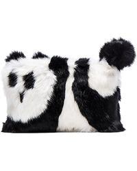 Alice + Olivia - Panda Rabbit Fur Muff - Lyst