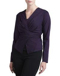 Donna Karan New York Wrap  Tie Shirt Jacket - Lyst