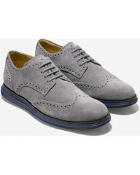 Cole Haan Lunargrand Waterproof Wingtip gray - Lyst