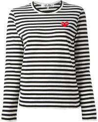 Comme Des Garçons Striped Tshirt - Lyst