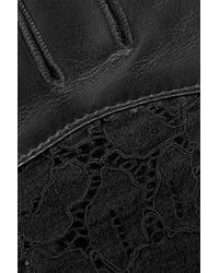 Nina Ricci | Leather And Lace Gloves | Lyst
