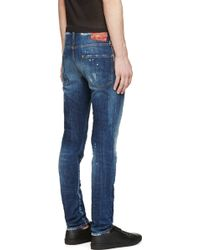 DSquared² Blue Painted And Distressed Cool Guy Jeans - Lyst