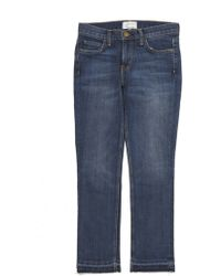 Current/Elliott Cropped Straight Skinny Jeans blue - Lyst