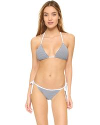 Scotch & Soda - Bikini Top With Scalloped Edge - Lyst