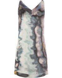 Theyskens' Theory Damara Printed Silk Crepe De Chine Mini Dress - Lyst