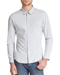 A.P.C. Classic Slim-Fit Pinstripe Cotton Sportshirt blue - Lyst