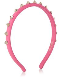 Valentino Rockstud Leather Headband - Lyst