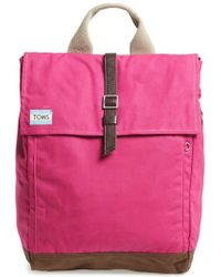 TOMS - 'trekker' Waxed Canvas Backpack - Lyst