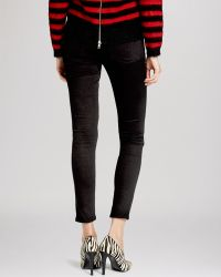 The Kooples Jeans - Leather Inset Skinny In Black - Lyst