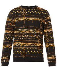 Versus  Chainprint Cottonjersey Sweatshirt - Lyst
