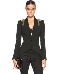 Sass & Bide The Sum Of Two Parts Embellished Blazer black - Lyst