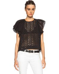 Isabel Marant Vlady French Embroidery Top - Lyst